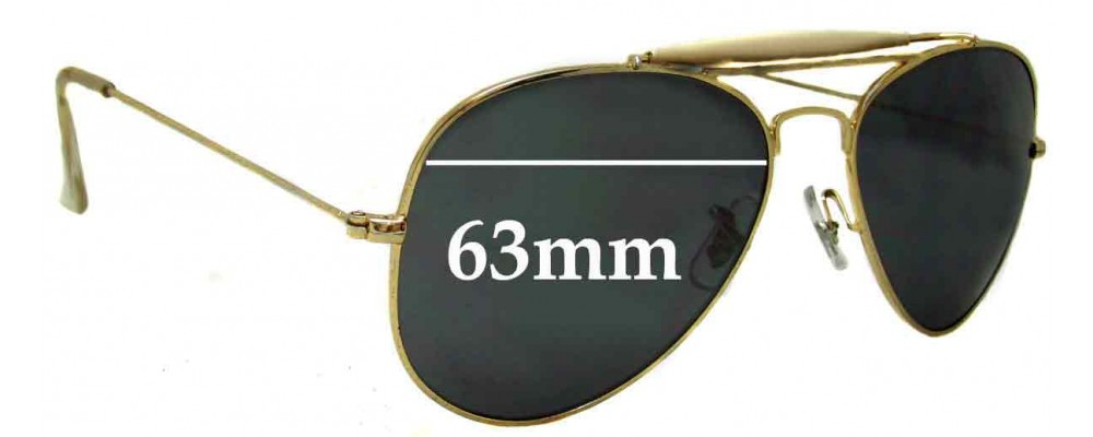 Sunglass Fix Replacement Lenses for Ray Ban RB3029 Bausch Lomb - 63mm wide
