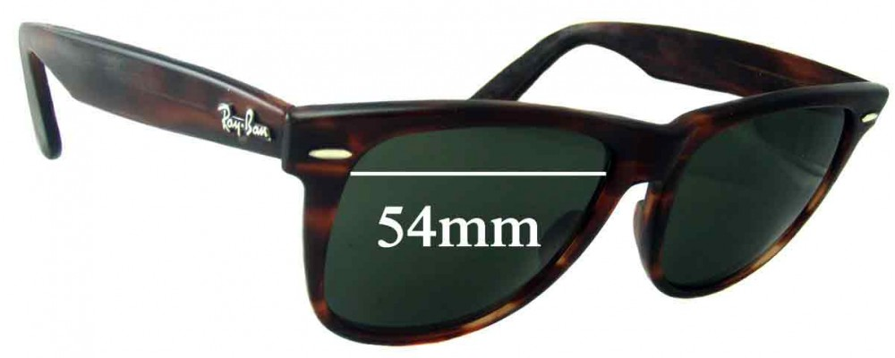 fbe9208edc Sunglass Fix Replacement Lenses for Ray Ban Wayfarer II Bausch and Lomb  L1725 - 54mm