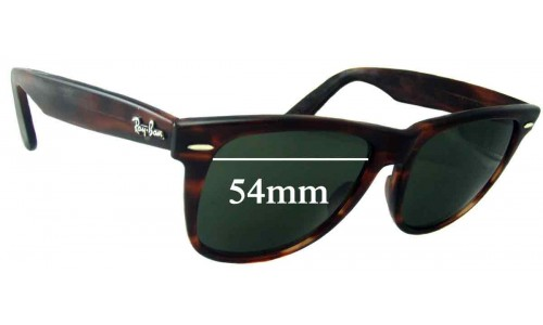 Sunglass Fix Replacement Lenses for Ray Ban Wayfarer II Bausch and Lomb L1725 - 54mm wide x 47.2mm high