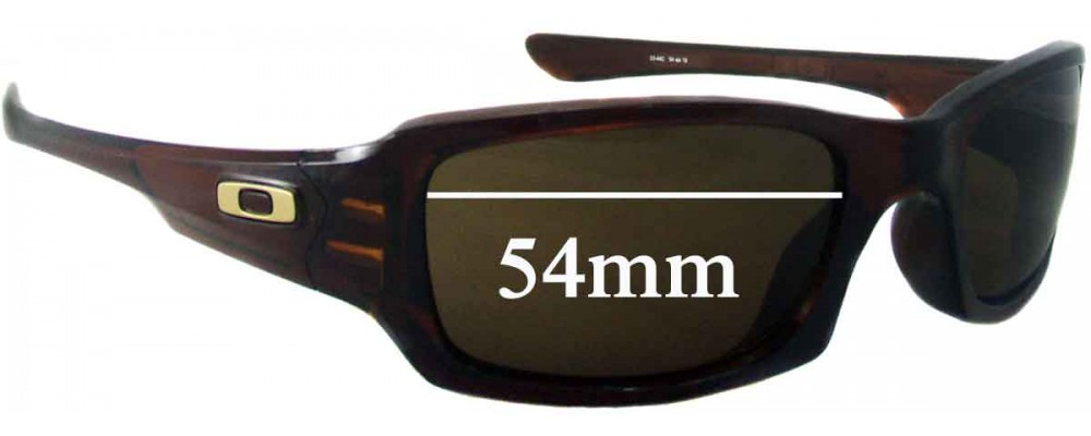 Sunglass Fix Replacement Lenses for Oakley Fives Squared OO9238 - 53mm-54mm Wide