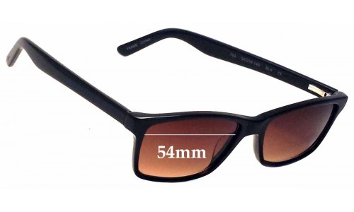 7 for All Mankind 763 Replacement Sunglass Lenses  - 54mm Wide
