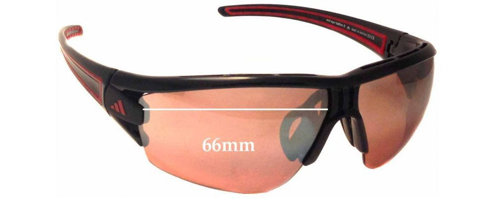 3e96227f6fb0 Adidas A403 Evil Eye Halfrim S Replacement Sunglass Lenses - 66mm wide  *Please measure as