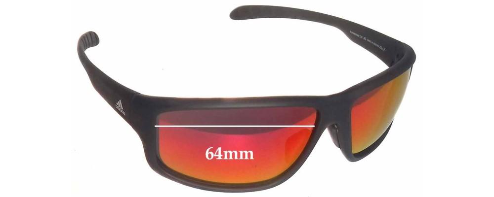 e8e97250cf Adidas A424 6057 Kumacross 2.0 Replacement Sunglass Lenses - 64mm wide