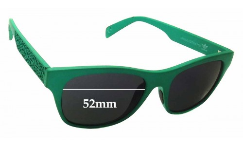 Adidas Unique Edition Replacement Sunglass Lenses - 52mm Wide