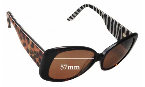 Sunglass Fix Replacement Lenses for Alex Perry AP SunRx 21 - 57mm Wide