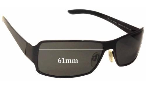 Sunglass Fix Replacement Lenses for Alexander Mqueen AMQ 4023/S - 61mm wide