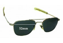 American Optical 5 1/2 Aviator Replacement Sunglass Lenses - 52mm wide