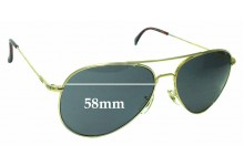American Optical General Replacement Sunglass Lenses - 58mm wide