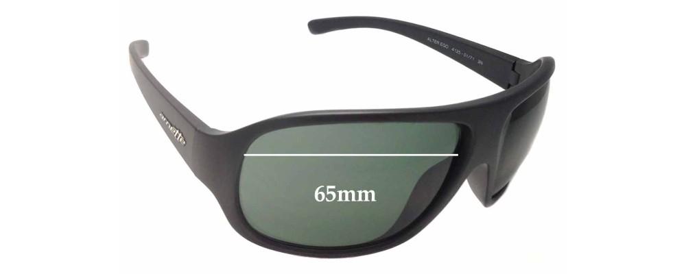 Arnette Alter Ego AN4125 Replacement Sunglass Lenses - 65mm wide