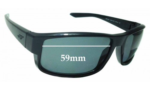 Sunglass Fix Replacement Lenses for Arnette Boxcar AN4224 - 59mm Wide