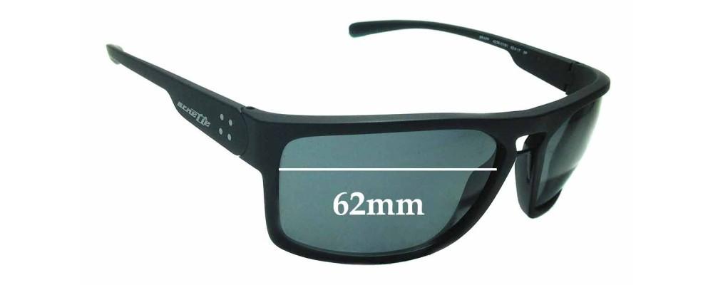 Sunglass Fix Replacement Lenses for Arnette Brapp AN4239 - 62mm wide