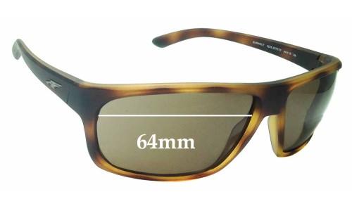 Sunglass Fix Replacement Lenses for Arnette Burnout 4225 - 64mm Wide