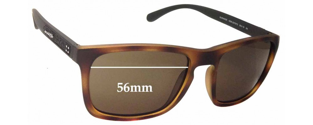 Arnette Burnside AN4236 Replacement Sunglass Lenses - 56mm wide