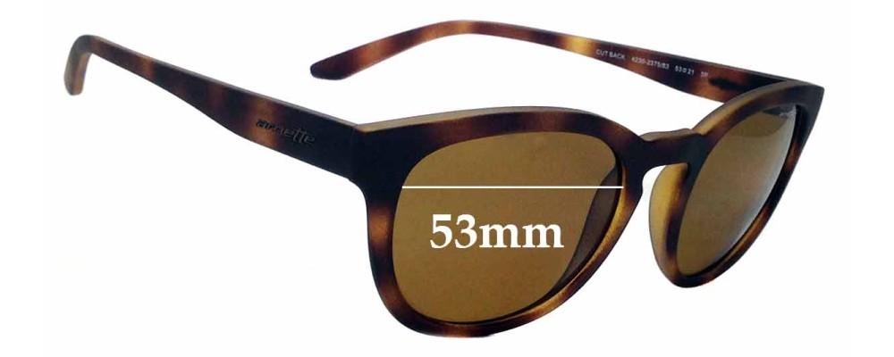 Sunglass Fix Replacement Lenses for Arnette Cut Back 4230 - 53mm wide