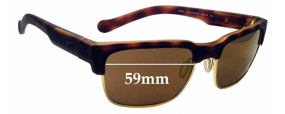 Sunglass Fix Replacement Lenses for Arnette Dean 4205 - 59mm wide