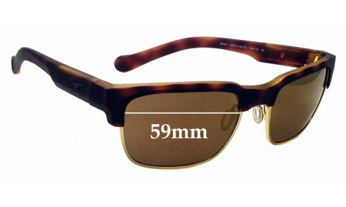 Sunglass Fix Replacement Lenses for Arnette Dean 4025 - 59mm wide