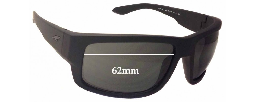 Arnette Grifter AN4221 Replacement Sunglass Lenses - 62mm wide