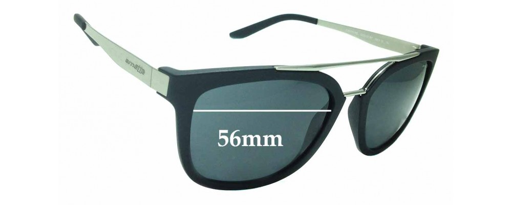 Sunglass Fix Replacement Lenses for Arnette Juncture 4232 - 56mm wide