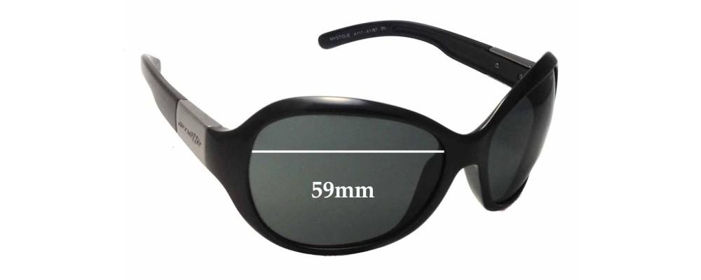 Arnette Mystique AN4117 Replacement Sunglass Lenses - 59mm Wide