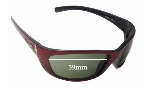 Arnette Player AN4073 Replacement Sunglass Lenses - 59mm Wide