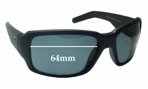 Arnette Racketeer 4201 Replacement Sunglass Lenses - 64mm wide