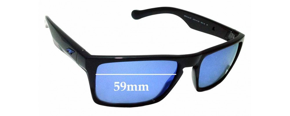 Sunglass Fix Replacement Lenses for Arnette Specialist AN4204 - 59mm wide