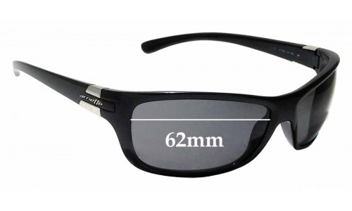Sunglass Fix Replacement Lenses for Arnette Speed AN4120 - 62mm wide