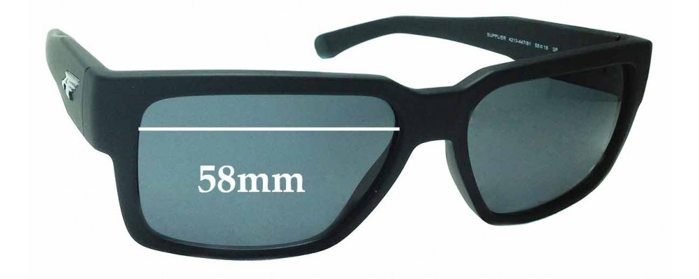 Sunglass Fix Replacement Lenses for Arnette Supplier AN4213 - 58mm wide