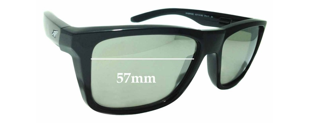 Sunglass Fix Replacement Lenses for Arnette Syndrome AN4217 - 57mm wide
