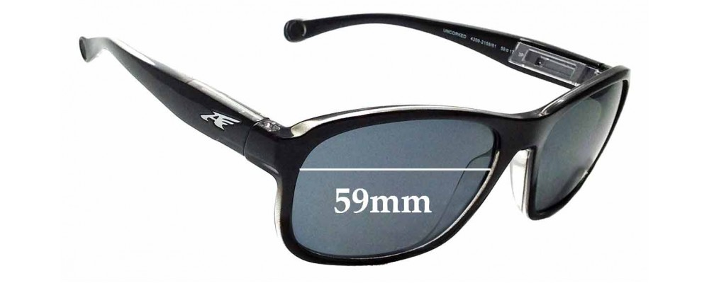 Sunglass Fix Replacement Lenses for Arnette Uncorked AN4209 - 59mm wide