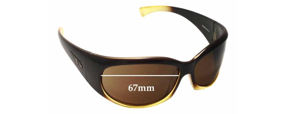 Arnette Untouchables AN4064 Replacement Sunglass Lenses - 67mm wide