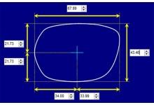 Austen 30001 M Replacement Sunglass Lenses - 68mm wide x 43mm high