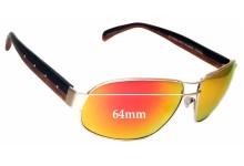 Badgley Mischka Clark Replacement Sunglass Lenses - 64mm wide