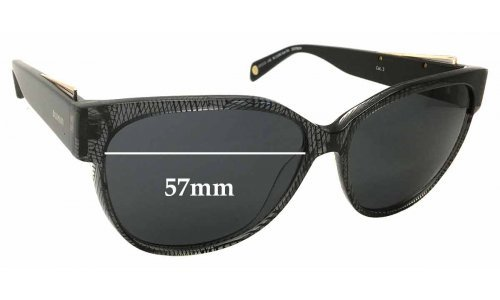 Balmain BL1528S Sun Rx Replacement Sunglass Lenses - 57mm Wide