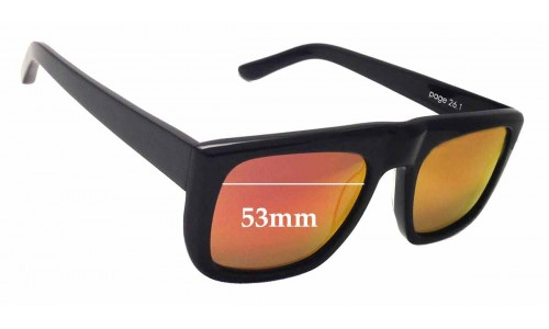 Sunglass Fix Replacement Lenses for Bassike Page 26.1 - 53mm Wide