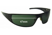Bullet Hitman Replacement Sunglass Lenses - 67mm wide