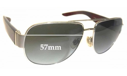 Burberry B 3042 Replacement Sunglass Lenses - 57mm Wide