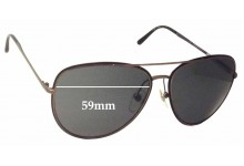 Burberry B 3062 Replacement Sunglass Lenses - 59mm Wide