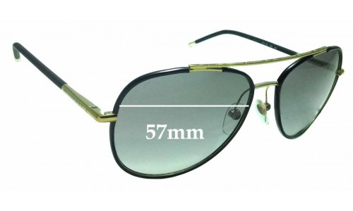 Sunglass Fix Replacement Lenses for Burberry B 3078 - 57mm Wide