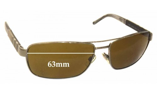 Burberry B 3081 Replacement Sunglass Lenses - 63mm Wide
