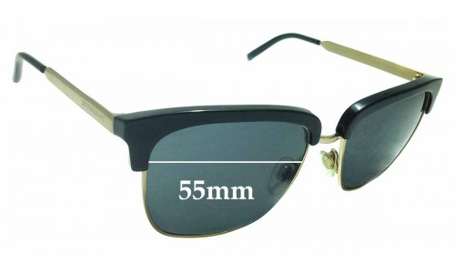 Sunglass Fix Replacement Lenses for Burberry B 4154 - 55mm wide