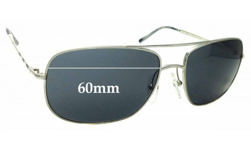 Sunglass Fix Replacement Lenses for Burberry B 3077 - 60mm Wide