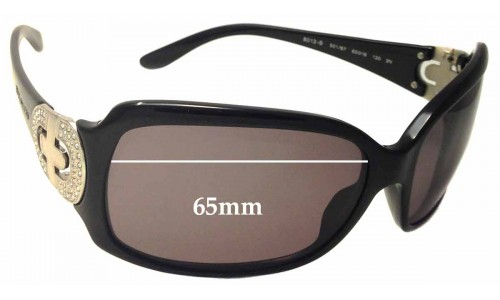 Bvlgari 8013-B Replacement Sunglass Lenses - 65mm wide
