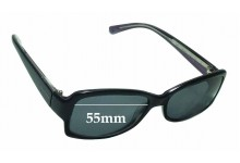Calvin Klein 4117S Replacement Sunglass Lenses - 55mm wide