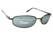 Sunglass Fix Replacement Lenses for Caribbean Sun CS004M - 55mm wide