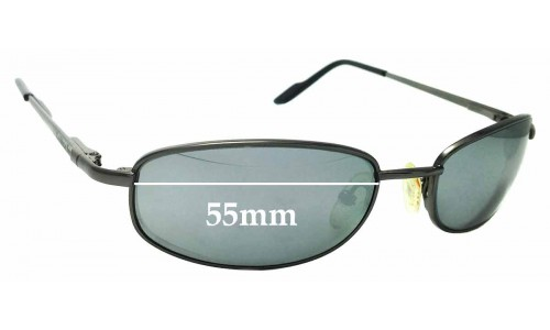 Sunglass Fix Replacement Lenses for Caribbean Sun CS004M - 55mm wide