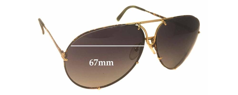 65be81585846 Carrera Porsche Design 5621A Replacement Sunglass Lenses - 67mm wide