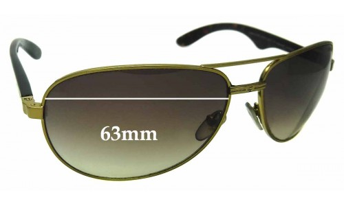 Carrera 6006 Replacement Sunglass Lenses - 63mm wide