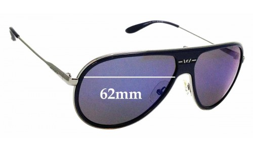 Sunglass Fix Replacement Lenses for Carrera 87/S - 62mm wide
