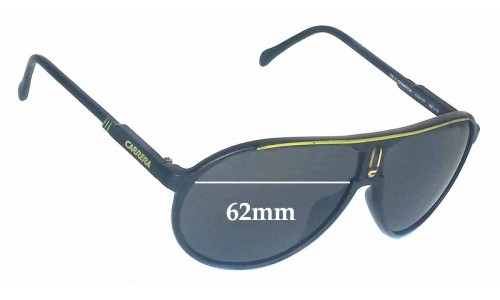 Carrera Champion Replacement Sunglass Lenses - 62mm wide